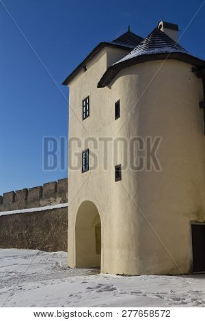 Ancient Spisska Kapitula,  Known As Slovak Vatican  On Blue Sky Background  At Winter. Spisske Podhr