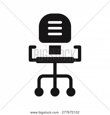 Office Chair Icon Isolated On White Background. Office Chair Icon In Trendy Design Style. Office Cha