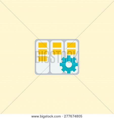 Task Manager Icon Flat Element.  Illustration Of Task Manager Icon Flat Isolated On Clean Background