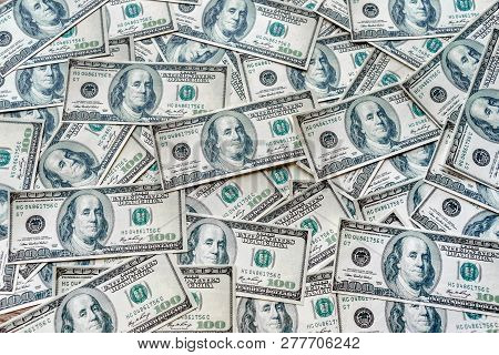 The Top View Concepts Of The Dollar Currency In The United States Of America Shows The Success Of In