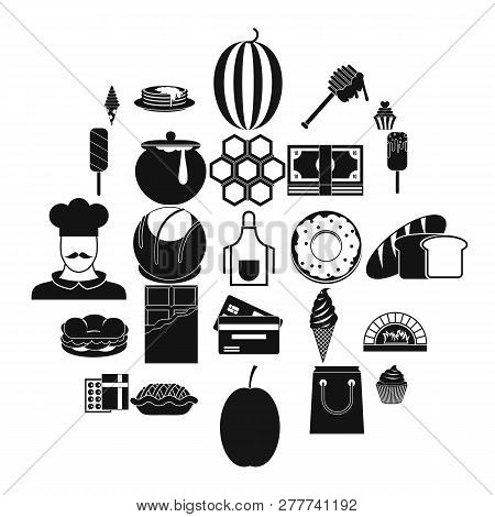 Executive Chef Icons Set. Simple Set Of 25 Executive Chef Vector Icons For Web Isolated On White Bac