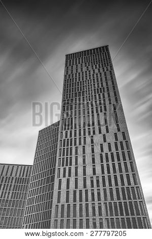 Malmo, Sweden - January 05, 2019: The New Building Blocks Malmo Live, That Consist Of Apartments, Ho