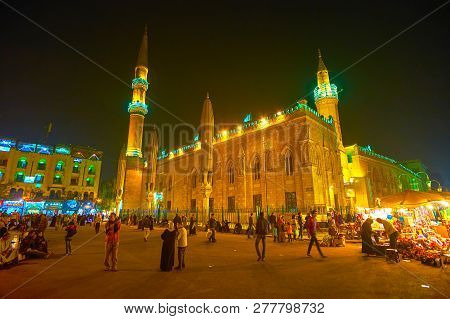 Cairo, Egypt - December 20, 2017: One Of The Most Interesting Excursions In Cairo Is A Visiting Huge