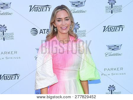 LOS ANGELES - JAN 04:  Emily Blunt arrives to Variety's Creative Imapct Awards 2019  on January 4, 2019 in Palm Springs, CA