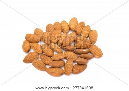 Almond. Almonds On White Background. Almonds Background. Almond Nuts