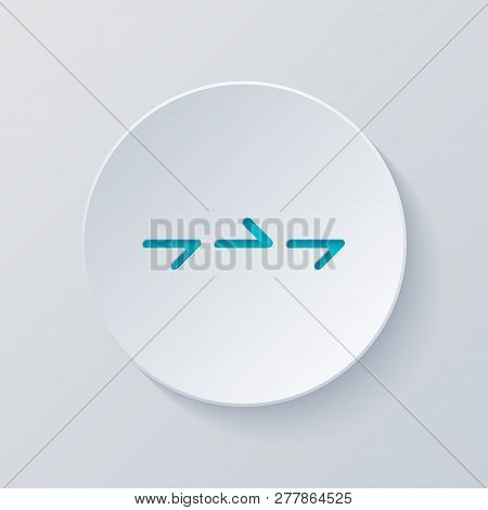 Few Arrows, Same Direction. Linear, Thin Outline. Cut Circle With Gray And Blue Layers. Paper Style