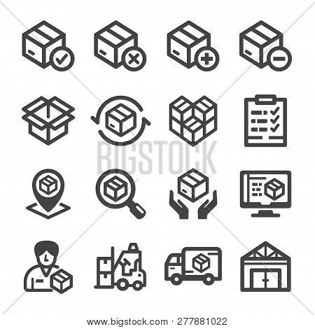 Stockpile And Stock Icon Set Vector And Illustration
