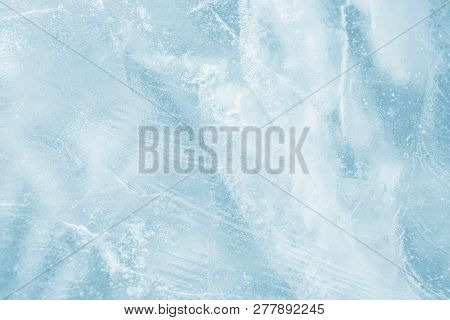 Ice Background. Pattern Of Transparent Shiny Ice. Natural Bright Background
