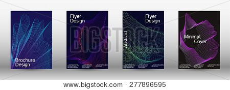 Minimum Coverage Of A Vector. A Set Of Modern Abstract Backgrounds With Abstract Gradient Linear Wav