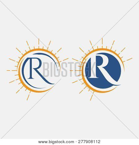 Logo, Abstract, Vintage Old Style Logo Icon Monogram. Letter R Logo. Royal Hotel, Premium Boutique,