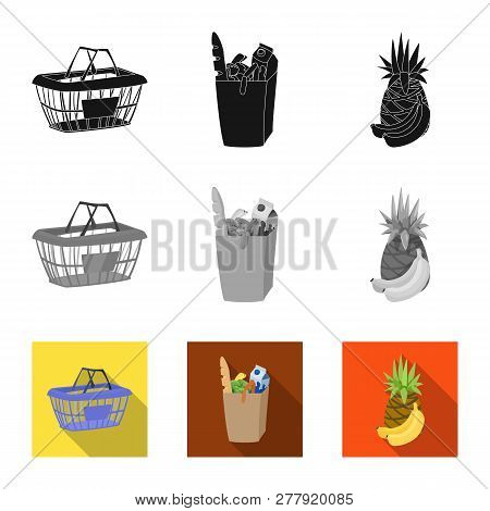 Vector Illustration Of Food And Drink Logo. Set Of Food And Store Stock Symbol For Web.
