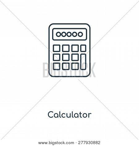 Calculator Icon In Trendy Design Style. Calculator Icon Isolated On White Background. Calculator Vec