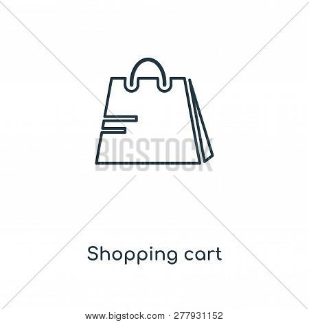 Shopping Cart Icon In Trendy Design Style. Shopping Cart Icon Isolated On White Background. Shopping