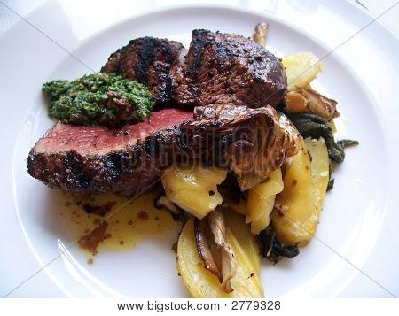 Fillet Steak And Salsa Verde
