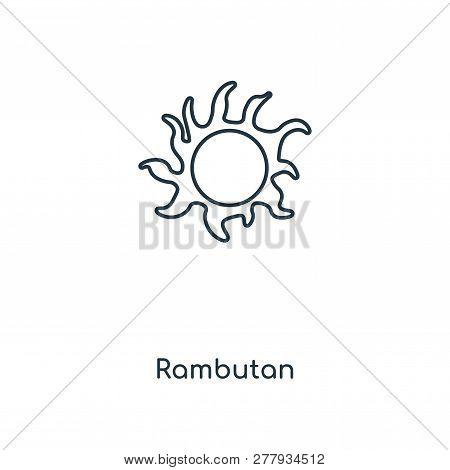 Rambutan Icon In Trendy Design Style. Rambutan Icon Isolated On White Background. Rambutan Vector Ic