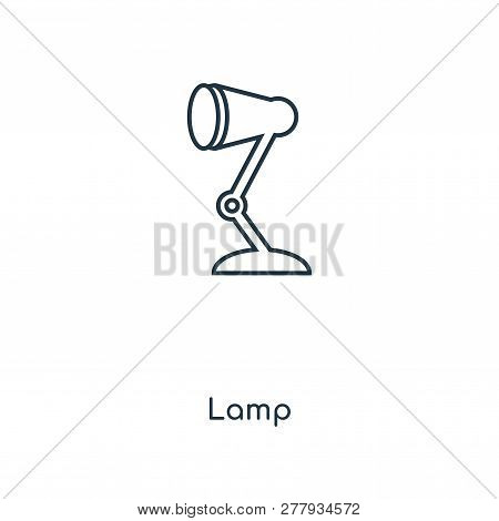 Lamp Icon In Trendy Design Style. Lamp Icon Isolated On White Background. Lamp Vector Icon Simple An