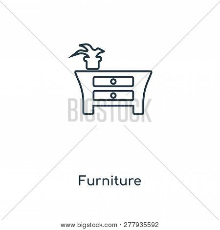 Furniture Icon In Trendy Design Style. Furniture Icon Isolated On White Background. Furniture Vector