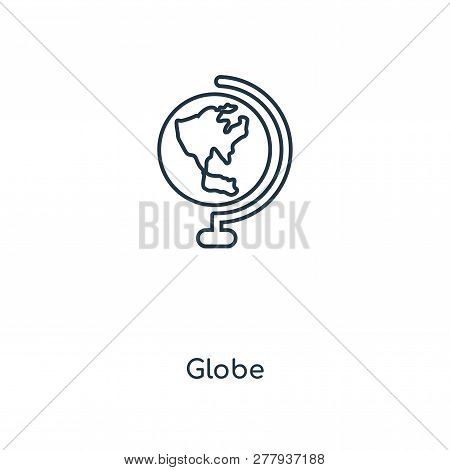 Globe Icon In Trendy Design Style. Globe Icon Isolated On White Background. Globe Vector Icon Simple
