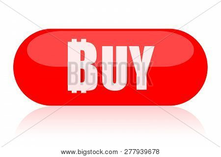 Buy Bitcoin Button Isolated On White Background