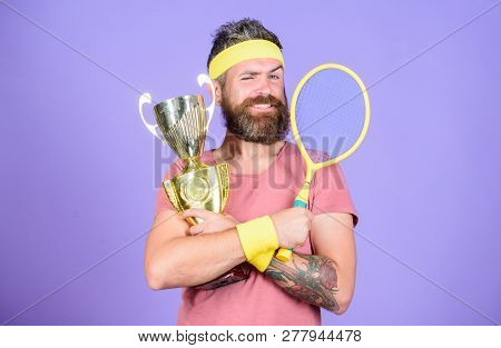 Win Tennis Game. Win Every Tennis Match I Take Part In. Tennis Player Win Championship. Athlete Hold