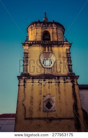 Church In The City Of Leon, Nicaragua. Historical Monument