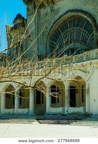 Architectural Details Of Old Casino Building In Constanta, Romania. Architecture Concept.