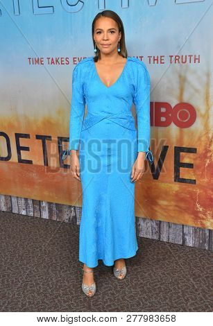 LOS ANGELES - JAN 10:  Carmen Ejogo arrives to HBO's 'True Detective' Season 3 Premiere  on January 10, 2019 in Hollywood, CA