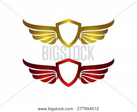 golden wing logo vector photo free trial bigstock golden wing logo vector photo free