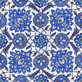 Detail from tiles found in Rustempasa Mosque poster