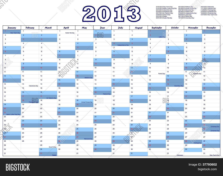 calendar 2013 federal vector photo free trial bigstock