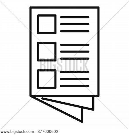 Magazine Catalog Icon. Outline Magazine Catalog Vector Icon For Web Design Isolated On White Backgro