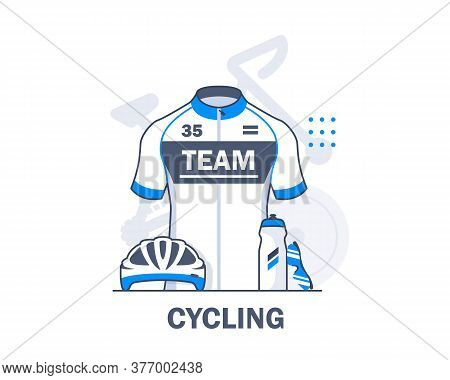 Cycling,biking,linear,cycling Equipment,flat Design Icon Vector Illustration,water Bottle