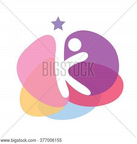 Creative Kids, Hopefull Logo, Love, Kindergarten Vector