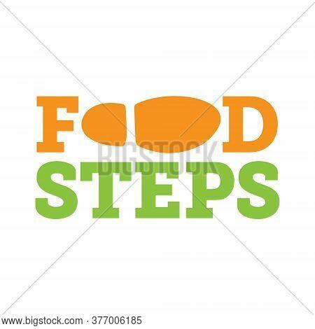 Foodsteps Wordmark Creative Logo Vector Design Idea