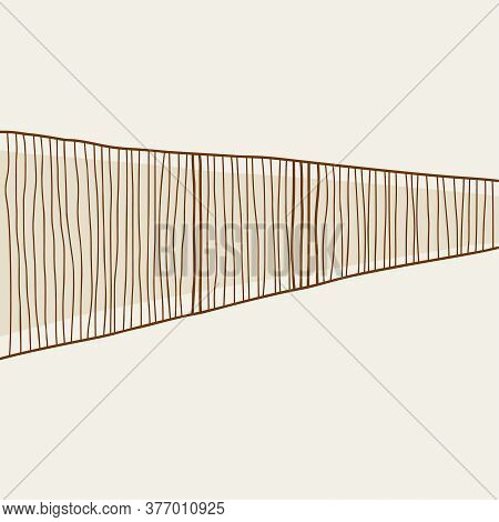 Abstract Contemporary Aesthetic Background With Uneven Hand Drawn Lines. Vector Wall Art In Scandina