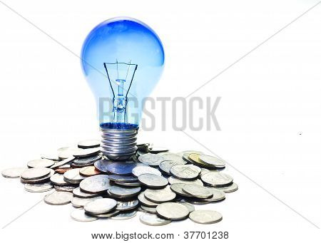 Lamp On Coins