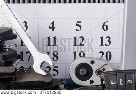Tool For Car Repair And Maintenance Before Calendar, For Appointment