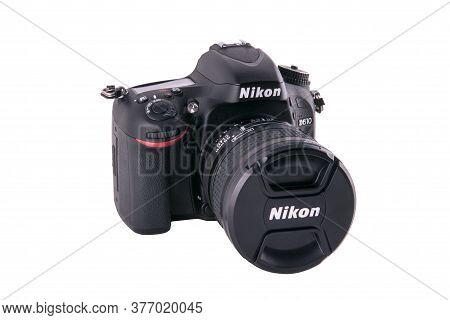 Belarus Minsk January 2018. Nikon D610 Photo Of A Closeup In The Studio