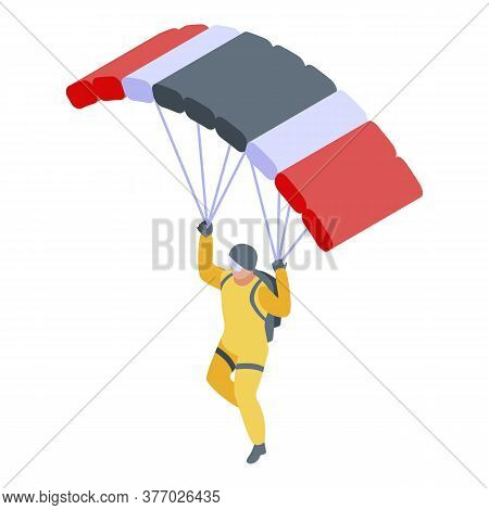 Paratrooper Icon. Isometric Of Paratrooper Vector Icon For Web Design Isolated On White Background