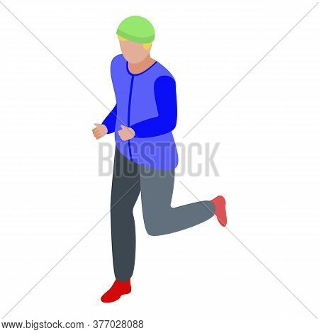 Running Lifestyle Icon. Isometric Of Running Lifestyle Vector Icon For Web Design Isolated On White