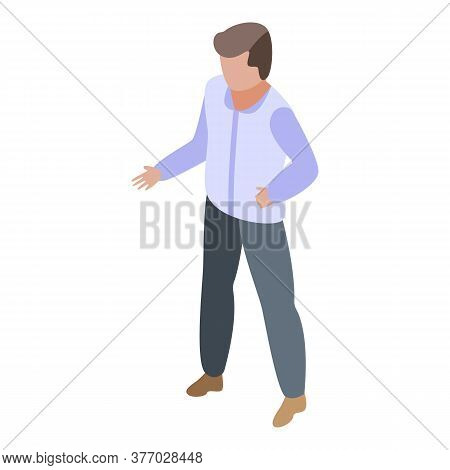 Boy Ready For Programming Icon. Isometric Of Boy Ready For Programming Vector Icon For Web Design Is
