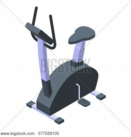 Gym Exercise Bike Icon. Isometric Of Gym Exercise Bike Vector Icon For Web Design Isolated On White