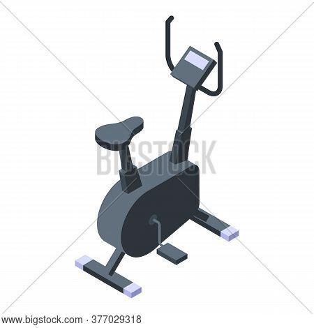 Fit Exercise Bike Icon. Isometric Of Fit Exercise Bike Vector Icon For Web Design Isolated On White