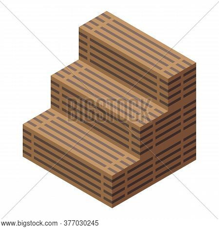 Wood Sauna Icon. Isometric Of Wood Sauna Vector Icon For Web Design Isolated On White Background