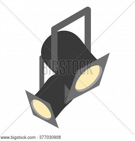 Theater Spotlight Icon. Isometric Illustration Of Theater Spotlight Vector Icon For Web