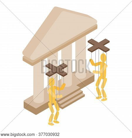 Puppet Theater Icon. Isometric Illustration Of Puppet Theater Vector Icon For Web