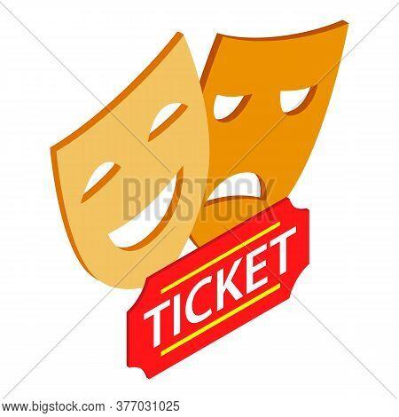 Theatre Symbol Icon. Isometric Illustration Of Theatre Symbol Vector Icon For Web