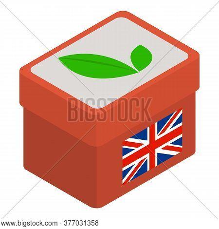 English Tea Icon. Isometric Illustration Of English Tea Vector Icon For Web