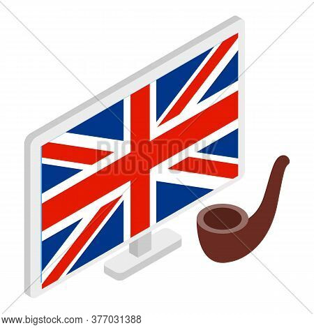 British Symbol Icon. Isometric Illustration Of British Symbol Vector Icon For Web