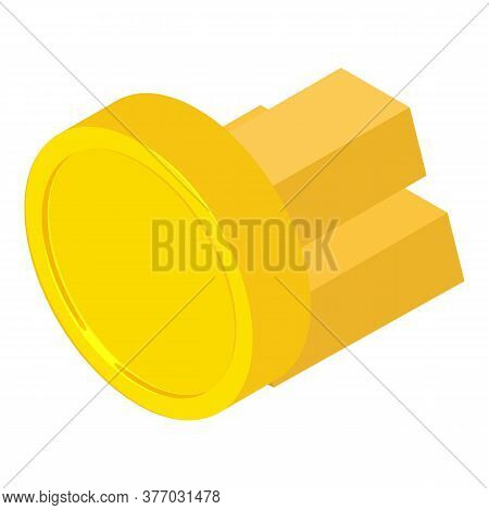 Gold Reserve Icon. Isometric Illustration Of Gold Reserve Vector Icon For Web